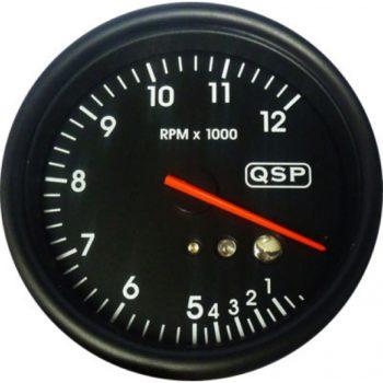 QSP Varvtal 12000 rpm Recall och Shiftlight QMO Tacho 12 Rev