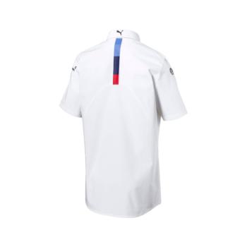 BMW RP MENS TEAM SHIRT White bmw motorsport shirt skjorta westcoast motorsport vit m sport back