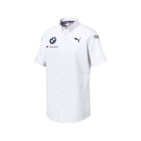 BMW RP MENS TEAM SHIRT White bmw motorsport shirt skjorta westcoast motorsport vit m sport front