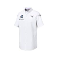 BMW RP MENS TEAM SHIRT White bmw motorsport shirt skjorta westcoast motorsport vit m sport front