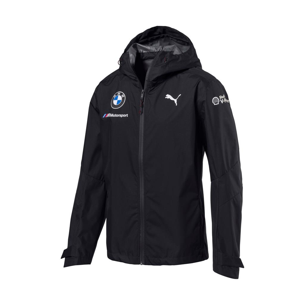 bmw motorsport puma race wear BMW RP MENS RAIN JACKET Grey 150381006150220_1 westcoast motorsport sweden regnjacka front