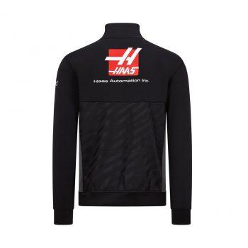 191101016100225_HAAS F1 RP MENS (HALF) ZIP SWEAT black westcoast motorsport back