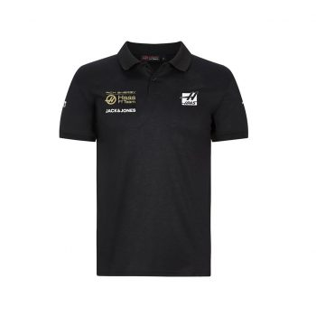 191691017100220_REH F1 RP MENS TEAM POLO black pike rich energy haas westcoast motorsport front