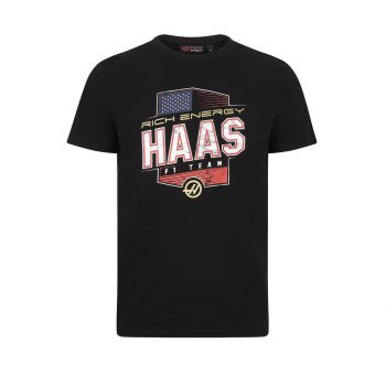 191691022100220_REH F1 FW MENS GRAPHIC LOGO TEE black rich energy haas westcoast motorsport front