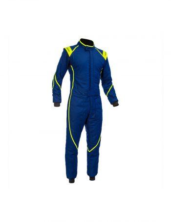 marina-suit-elast1-pals-f160 blue race overall westcoast motorsport front