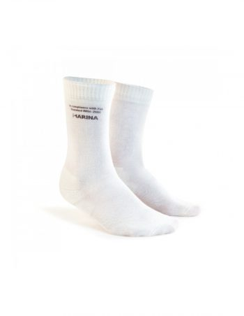r50-046-Marina-socks-M2-en westcoast motorsport white socks pair front