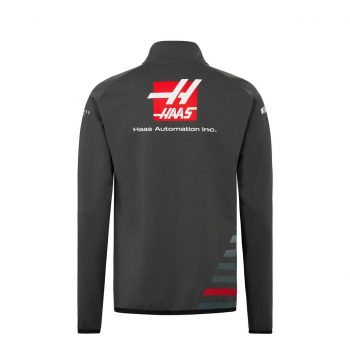 191681018150235_HAAS F1 RP MENS (HALF) ZIP SWEAT grey sweatshirt westcoast motorsport back