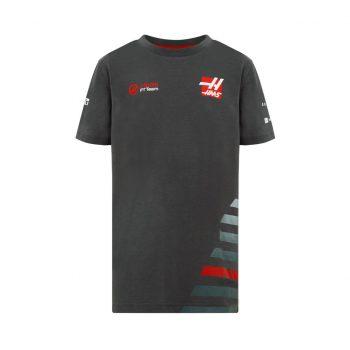 191681021150092_HAAS F1 RP KIDS TEE grey t-shirt tshirt barn westcoast motorsport f1 sweden front