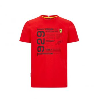 SF FW MENS INFOGRAPHIC TEE westcoast motorsport red front