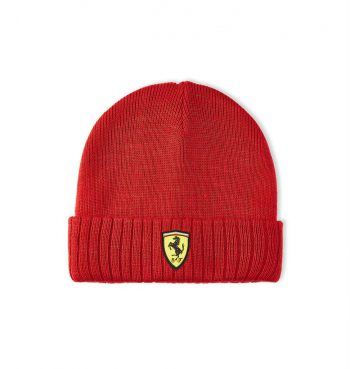 130101058600000 SF FW BEANIE f1 westcoast motorsport mössa red röd front