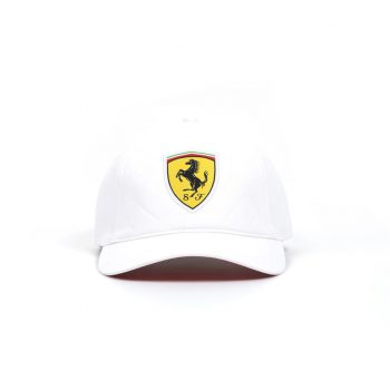 130181044200000 SF FW QUILT CAP F1 Westcoast Motorsport vit white front