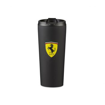 130191067100005 f1 SF FW MATTE THERMAL MUG black termosmugg westcoast motorsport ferrari front svart