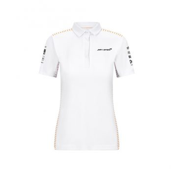 701206587001215_MCLAREN RP WOMENS TEAM POLO WHITE_pike_westcoast_motorsport_tjejmodell_front