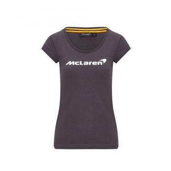 MCLAREN FW WOMENS ESSENTIALS TEE Antracit f1 tjej dam westcoast motorsport front