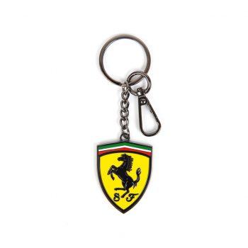 130101061802000 SF FW METAL SHIELD KEYRING nyckelring westcoast motorsport scuderia ferrari