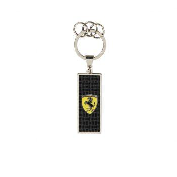 130191003100000 SF FW METAL LOGO KEYRING westcoast motorsport ferrari front side nyckelring fram