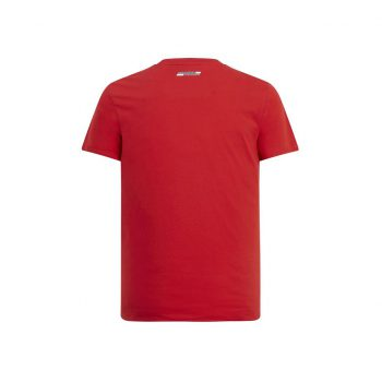 130191064600215 SF FW MENS ANGLED SCUDERIA GRAPHIC TEE red röd westcoast motorsport back
