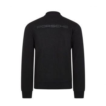 304491026100220_PORSCHE FW MENS ZIP SWEAT BLACK_svart_westcoast_motorsport_back